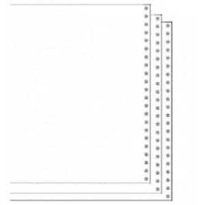 "9 1/2"" x 11"" 15# Blank Regular Perforation 3-Part Carbon Interleaf Computer Paper, 1100 sheets - CP-9706"