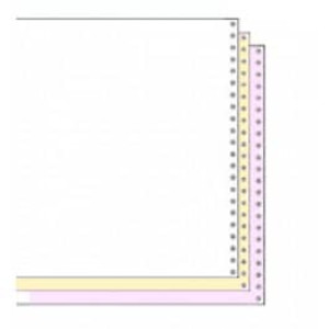 "9 1/2"" x 11"" 15# Blank Regular Perforation 3-Part Carbonless Continuous Computer Paper, 1200 sheets - CP-91193"