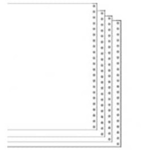 "9 1/2"" x 11"" 15# Blank Regular Perforation 4-Part Carbon Interleaf Computer Paper, 750 sheets - CP-9708"
