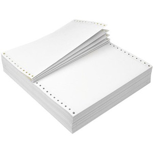 9 1/2'' x 11'', 2 ply Report Printer Paper, Center Perforation, 3200 Sheets - CP-P01-2742N