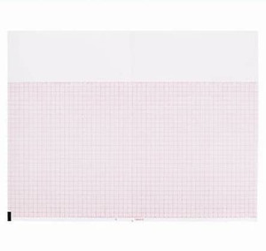 "Burdick Compatible 007984 Medical Cardiology Recording Chart Paper, Red Grid, Z-Fold, 8.5"" x 5.5"" - MP-7984"