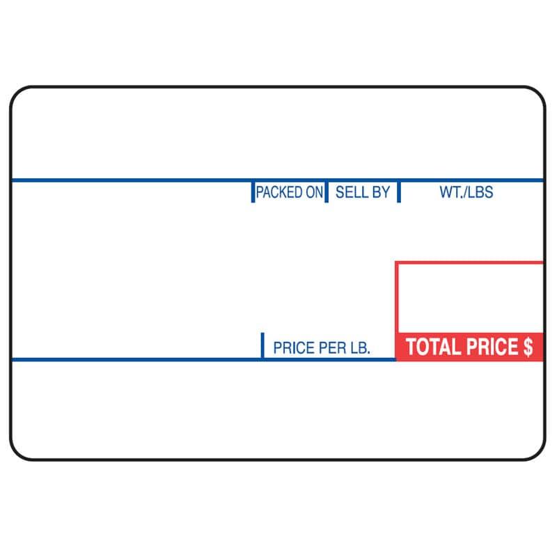 """Cas LP-1000 2.25"""" x 1.57"""" Red Blue UPC Deli Scale Labels (12 Rolls)"""