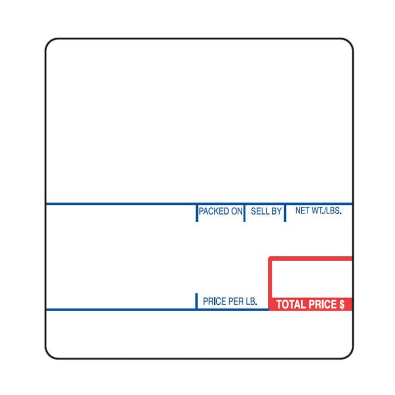 "Cas LP-1000 2.25"" x 2.36"" UPC Ingredient Scale Labels (12 Rolls)"