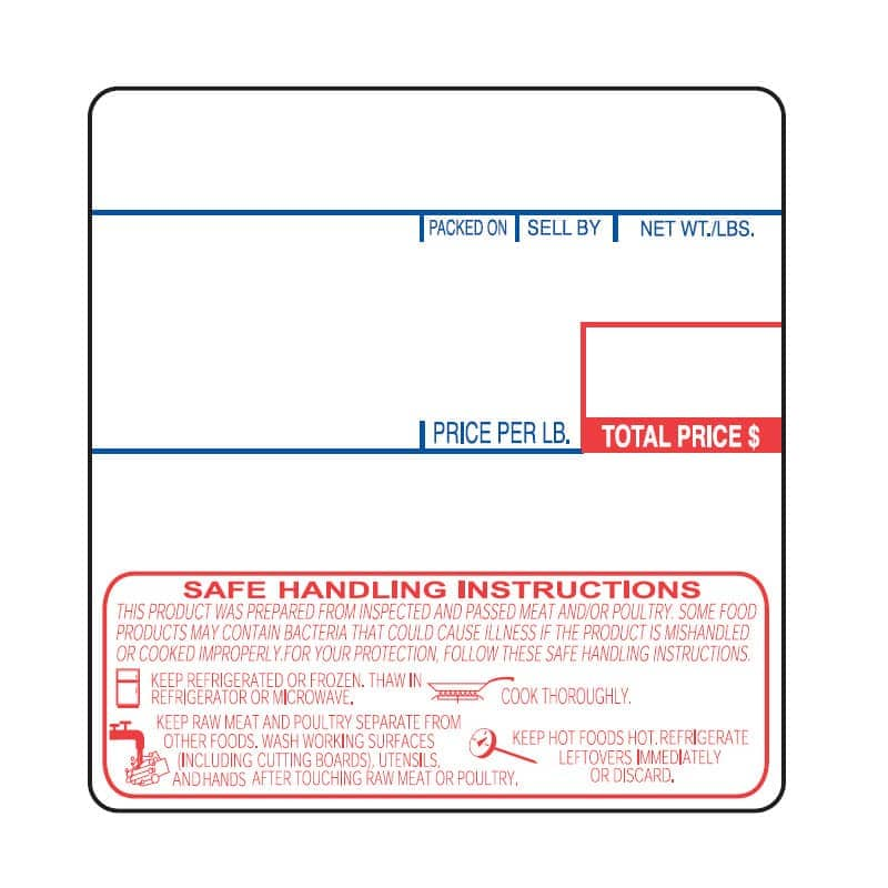 """Cas LP-1000 2.25"""" x 2.36"""" UPC Safe Handling Scale Labels, (12 Rolls)"""
