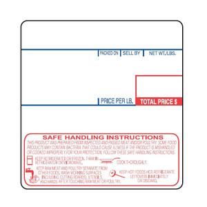 "Cas LP-1000 2.25"" x 2.36"" UPC Safe Handling Scale Labels, (12 Rolls) - SL-1478-SH"
