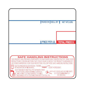 "Cas LP-1000 2.25"" x 2.36"" UPC Safe Handling Scale Labels, (12 Rolls) - SL-1478-SH"