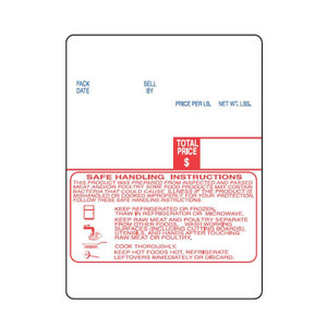 Digi DP-120 SM-90 SM-300B 60 x 80mm Red Blue Safe Handling Scale Labels (15 Rolls) - SL-1537-SH