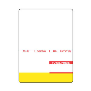 "Ishida AC-Series BC-3000 / 4000 2.50"" x 1560"" Astra Continuous Strip Scale Labels (12 Rolls) - SL-1820"