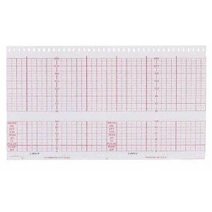Philips/HP 9270-0485 Fetal Recording Chart Paper, Red Grid, Z-Fold, 152mm x 100mm, 40 Pack/Case - MP-9270-0485