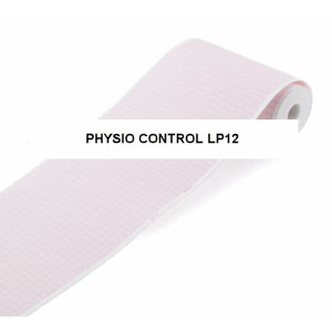 Physio Controls Compatible LP12 Ambulatory EMS Recording Chart Paper, Red Grid, 108mm x 75' - MP-LP12