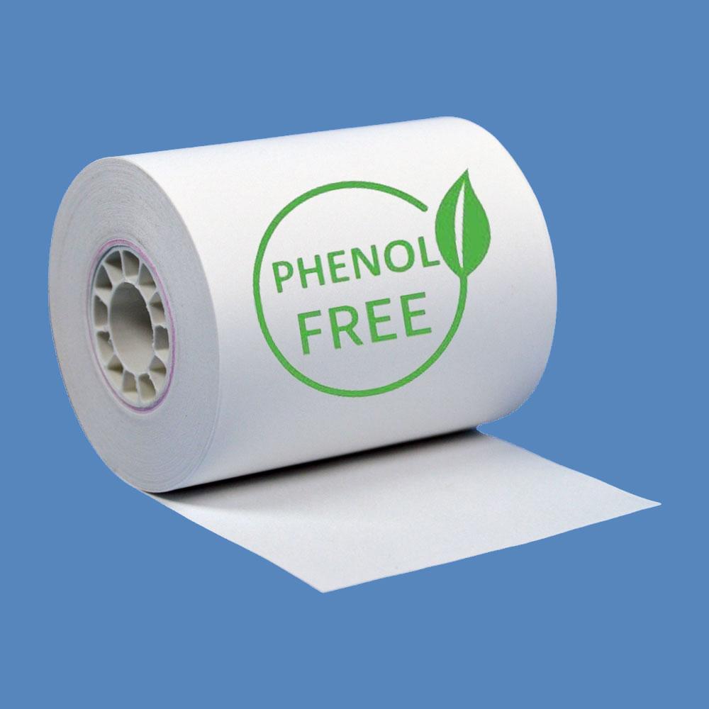 """2 1/4"""" x 85' Phenol-Free (BPA & BPS) Thermal Receipt Paper Rolls (10 Rolls)"""