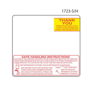 "Toledo 325/8460 2.625"" x 2.375"" Scale Labels - 500 Labels/Roll (30 Rolls) - SL-1723-SH"