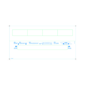 Adult Medical ID Wristband Laser Sheets with 4 Chart Labels, Matte Lamination (1000 Sheets) - L-WB-PLS-110W