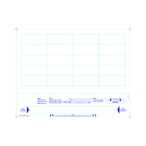Adult Medical ID Tamper Proof Wristband Sheets with 20 Chart Labels, Matte Lamination (1000 Sheets) - L-WB-PLS-102WT