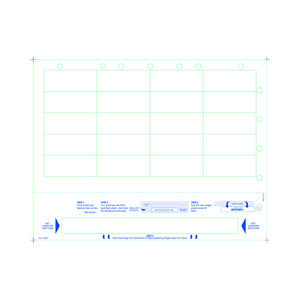 Adult Medical ID Wristband Laser Sheets with 20 Chart Labels, Clear Lamination (1000 Sheets) - L-WB-PLS-102WCP