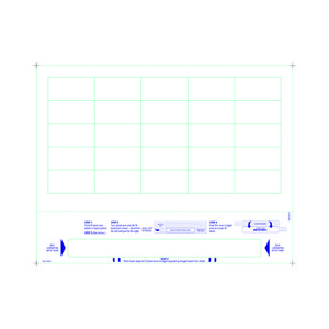Adult Medical ID Wristband Laser Sheets with 20 Chart Labels, Matte Lamination (1000 Sheets) - L-WB-PLS-102W
