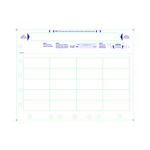 Adult Medical ID Wristband Laser Sheets with 20 Chart Labels - Top, Matte Lamination (1000 Sheets) - L-WB-PLS-102AW