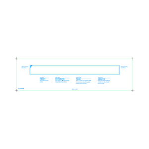 Adult Medical ID Wristband Laser Sheets, Clear Lamination (1500 Sheets) - L-WB-PLS-101AX