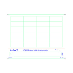 Adult PolyBand 2 Medical ID Wristband Laser Sheets with 24 3 mil Chart Labels (1000 Sheets) - L-WB-PB2-250-100