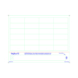 Adult PolyBand 2 Medical ID Wristband Laser Sheets with 24 Chart Labels (1000 Sheets) - L-WB-PB2-262-100