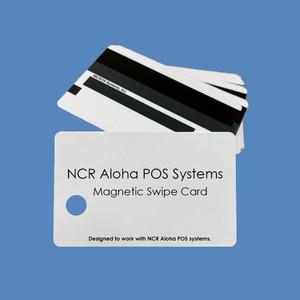 NCR Aloha POS Magnetic ID Cards, 25/Set - AC-ALOHA