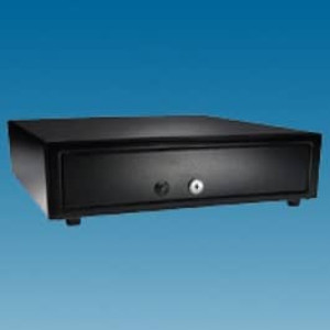 APG Vasario Series 1416 Black Manual Operation Standard Duty Cash Drawer - VP101-BL1416