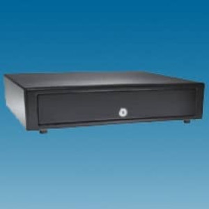 APG Vasario Series 1416 Black Standard Duty Cash Drawer - VP320-BL1416