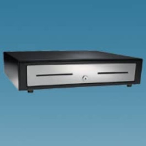 APG Vasario Series 1616 Standard Duty Cash Drawer with Stainless Steel Front - VBS320-BL1616