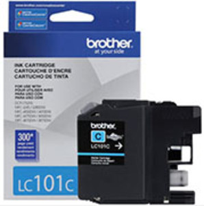 Brother LC101 Ink Cartridge Cyan, 300 Page Yield - IJ-LC101C