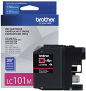 Brother LC101 Ink Cartridge Magenta, 300 Page Yield - IJ-LC101M