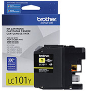 Brother LC101 Ink Cartridge Yellow, 300 Page Yield - IJ-LC101Y