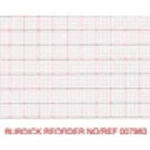 Burdick 216mm x 183mm Generic Z-Fold Packs, Red Dot Matrix Grid, Cue Hole, 2,000 sheets/case - M-007868