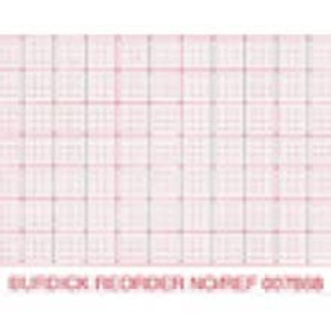 Burdick 216mm x 183mm Generic Z-Fold Packs, Red Dot Matrix Grid, Sense Mark, 2,000 sheets/case - M-007983