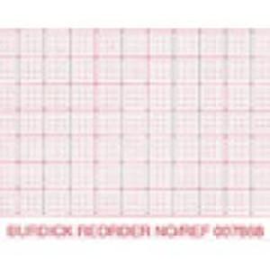 Burdick 216mm x 183mm Generic Z-Fold Packs, Red Dot Matrix Grid, Sense Mark, 2,000 sheets/case - M-007983