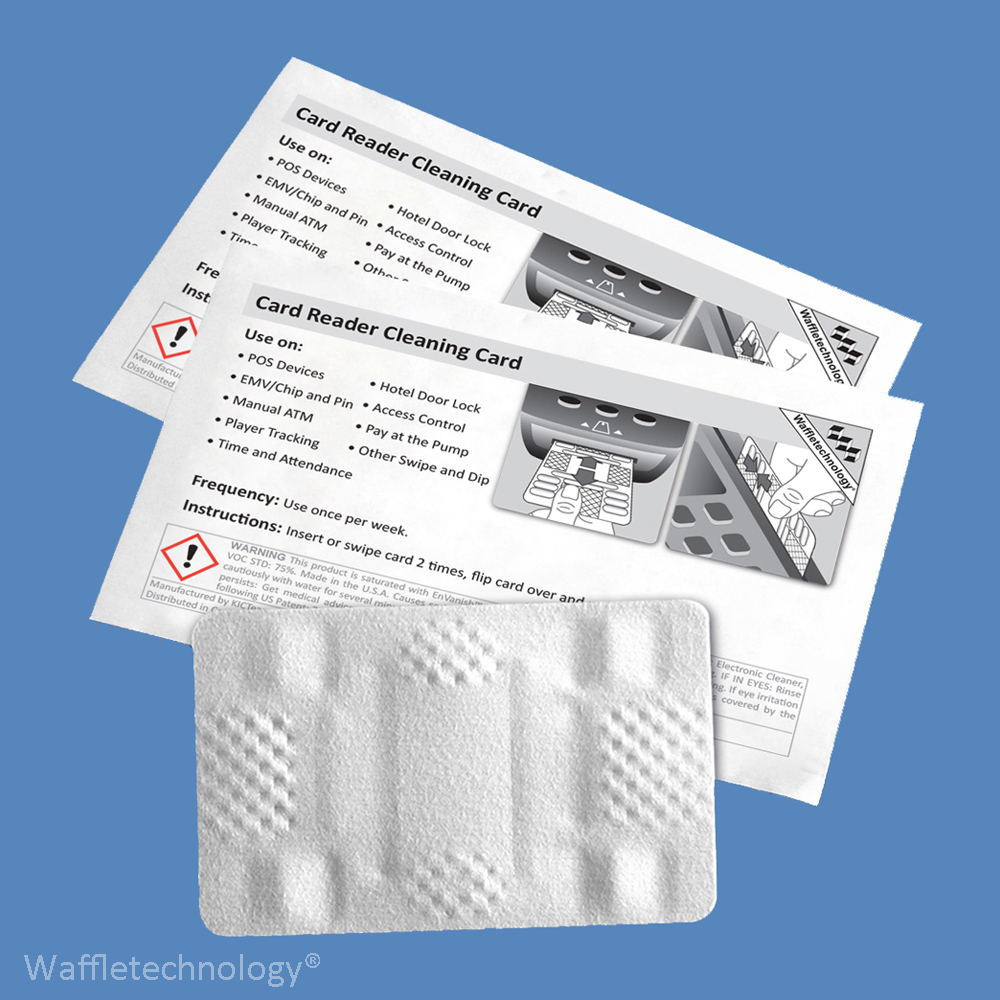 Card Reader Cleaning Card with Waffletechnology®, CR80, KW3-HSCP10 (10 Cards)