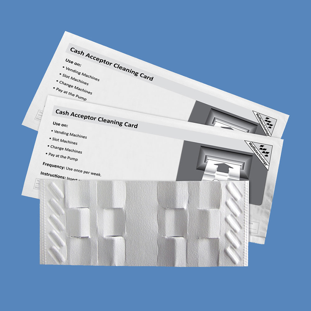 Cash Acceptor Cleaning Cards with Waffletechnology KW3-BCWB15M (15 Cards)