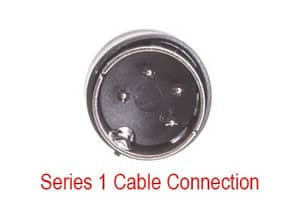 Cash Drawer Conversion Cable: MICROS 8-pin mini-DIN Series 2 to 4-pin DIN Series 1 - 1 ft