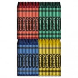 Crayons: Premium Restaurant Pack - Green, Blue, Red, Yellow (500 ea/2000 total)