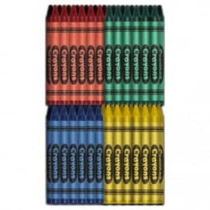 Crayons: Premium Restaurant Pack - Green, Blue, Red, Yellow (500 ea/2000 total) - CR-2000-4PKP