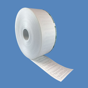 "Digital/T2 LUKE Pay & Display Thermal Paper Rolls, 60mm x 7"" Topcoated 4.5 mil, Green Stripe, Disclaimer (8 Rolls) - PR-LUKE-60MM-4.5TC"