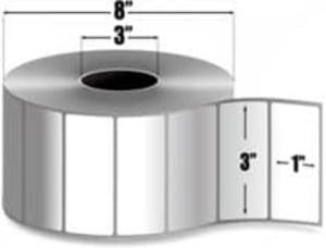"""Intermec Duratherm II, Direct Thermal Label, 3"""" X 1"""", 8 Rolls, #E10192 - HON-E10192"""