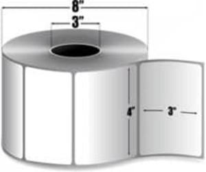 """Intermec Duratherm II, Direct Thermal Label, 4"""" X 3"""", 4 Rolls, #E25736 - HON-E25736"""