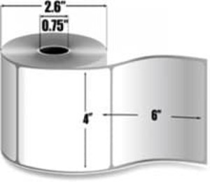 """Intermec Duratherm II, Direct Thermal Label, 4"""" X 6"""", 16 Rolls, #E21016 - HON-E21016"""