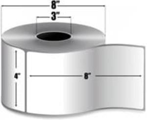 """Intermec Duratherm II, Direct Thermal Label, 4"""" X 8"""", 4 Rolls, #E15275 - HON-E15275"""