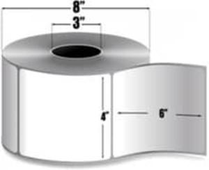 "Intermec Duratherm II, Direct Thermal Tag, 4"" X 6"", 4 Rolls, #E04633 - HON-E04633"