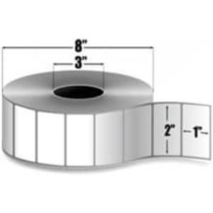 """Intermec Duratherm III, Direct Thermal Label, 2"""" X 1"""", 8 Rolls, #E22751 - HON-E22751"""