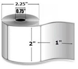 """Intermec Duratherm III, Direct Thermal Label, 2"""" X 1"""", 16 Rolls, #E27026 - HON-E27026"""