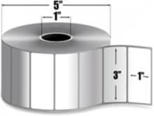 """Intermec Duratherm III, Direct Thermal Label, 3"""" X 1"""", 8 Rolls, #E25749 - HON-E25749"""