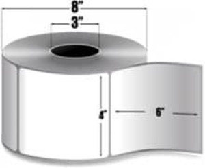 "Intermec Duratran, DuraTuff Thermal Transfer Film Tag, U-Shaped Hole, 4"" X 6"", 4 Rolls, #E23895 - HON-E23895"