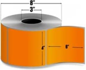 "Intermec Duratran II, Floodcoat Thermal Transfer Label, 4"" X 6"", 4 Rolls, #E07267-PMS021 - HON-E07267-PMS021"